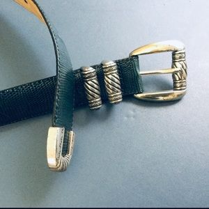 Vintage Brighton belt Gray leather Silver Small